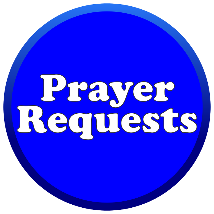 Blue Prayer Button